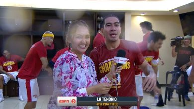 Photo of WATCH: Brgy. Ginebra celebrates the Championship in the dugout!