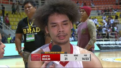 Photo of WATCH: Best Player of the Game interview with Japeth Aguilar