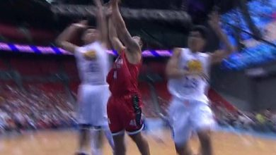 Photo of WATCH: Teytey Teodoro's first 4 points for Brgy. Ginebra!