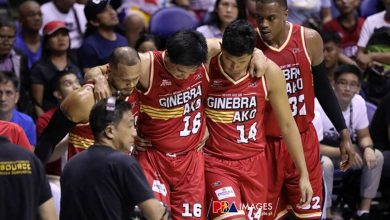 Photo of Blackwater's James Sena fined P20K for landing spot foul on Jeff Chan