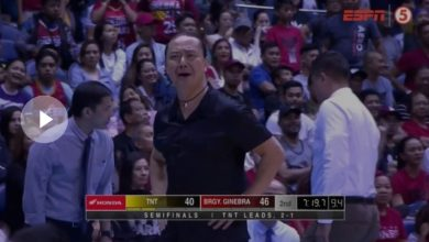 Photo of WATCH: Alfrancis Chua curses the referee for late 3-second violation call on TNT!