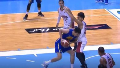 Photo of WATCH: Aljon with a big time BLOCK on Troy Rosario!