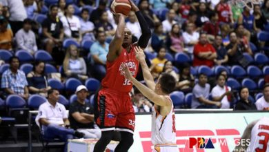 """Photo of Justin Brownlee on Finals return: """"It feels good but we're not satisfied, we want the greatest feeling"""""""