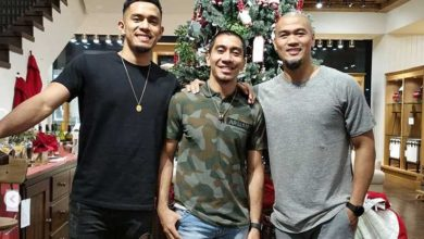 Photo of Paolo Taha acknowledges 'Kuya Mark' and 'Kuya LA' after career game for NorthPort