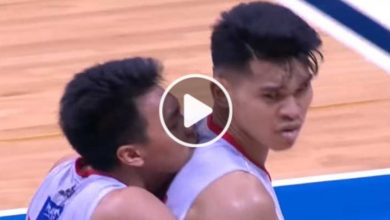 Photo of WATCH: Allen Durham loses cool at Aljon after getting blocked by Japeth!