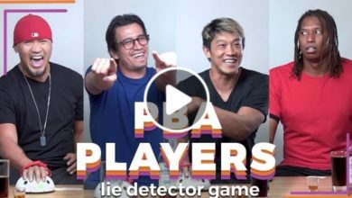 Photo of WATCH: PBA players reunite to play a lie detector drinking game!