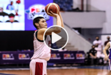 Photo of WATCH: Arvin Tolentino drains a triple and then rejects Anthony Semerad!