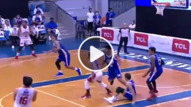 Photo of WATCH: LA Tenorio plays 642nd consecutive game, drops NLEX rookie Mike Ayonayon!