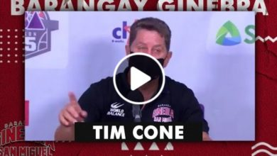 Photo of WATCH: Tim Cone Post-Game interview [Brgy. Ginebra vs Blackwater | October 15, 2020]
