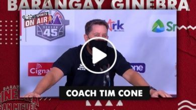Photo of WATCH: Tim Cone Post-Game interview [Brgy. Ginebra vs NLEX | October 11, 2020]