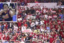 Photo of Beau Belga on facing Brgy. Ginebra inside the bubble: 'Malungkot dahil walang fans'